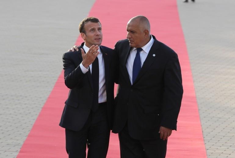 Борисов с президента на Франция Еманюел Макрон
