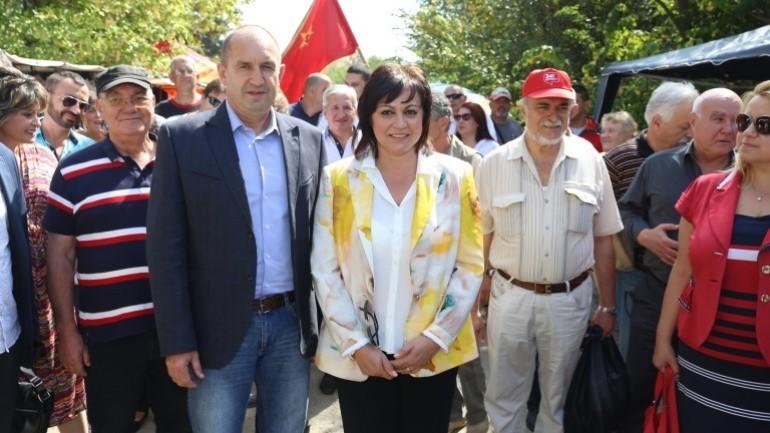 Радев като кандидат- президент през 2016 г., на официално посещение на Събора на русофилите в България край яз. Копринка