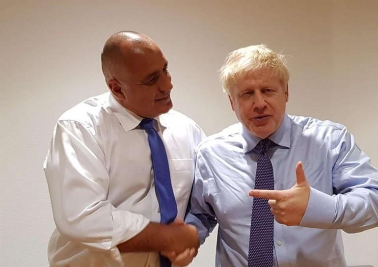 Борисов с британския премиер Борис Джонсън