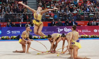 Bulgarian Rhythmic Gymnasts Win Gold and Bronze in Group Events at Baku World Cup